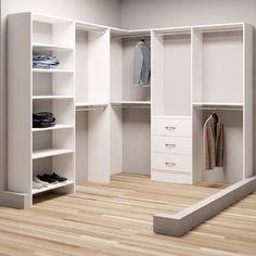 """TidySquares Inc, Demure Design 81""""W - 102.25""""W Closet System"""