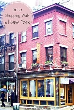 Soho, sometimes capitalized as SoHo is a neighborhood in Lower Manhattan, New York known for its eclectic mixture of pricy boutiques, where you can buy everything from cutting-edge designs to vintage looks and cult fashions.
