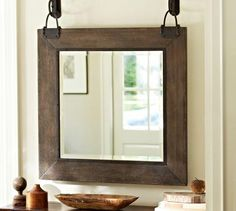 Industrial style mirror homey stuff mirror, pottery barn mirror и h Wall Mirrors Set, Rustic Wall Mirrors, Living Room Mirrors, Wood Mirror, Round Wall Mirror, Hanging Mirrors, Decorative Mirrors, Mirror Bedroom, Mirror Set