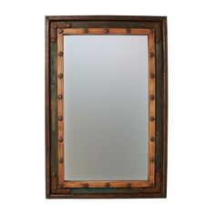 Loon Peak Islemade Rustic Distressed Bathroom/Vanity Mirror Size: H x W Rustic Mirrors, Wood Mirror, Wall Mounted Mirror, Framed Mirrors, Table Mirror, X 23, Distressed Bathroom Vanity, Bathroom Mirrors, Vanity Mirrors