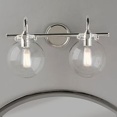 "Bathroom Lights Glass downtown edison 28 1/2"" wide brushed nickel bath light - style"