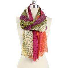 Colorful Dots Scarf, $49, now featured on Fab.