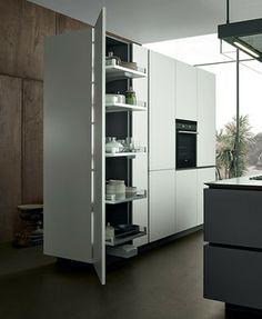 Artex Tall unit modern kitchen cabinets