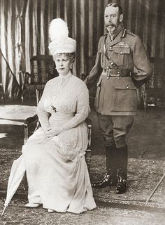 1918, A Royal Anniversary: King George V and Queen Mary celebrate their silver anniversary, married since 6 July 1883.