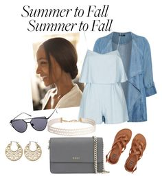 """Summer2Fall"" by briannadyches on Polyvore featuring Evans, Billabong, DKNY, Humble Chic, Avenue and plus size clothing"