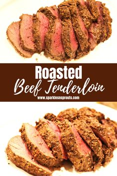 Roasted Beef Tenderloin is the perfect quick and easy recipe.  It will make any meal feel special (even if it just a normal Monday night) .  It is also KETO / Low Carb friendly!! . #keto #lowcarb #beef #beeftenderloin #tenderloin #makedinnerspecial #recipe #sparklesnsprouts