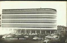 Iraq, Baghdad, Rafidain Bank Building at Bank Street near the Shorja market in Rasheed Street, in 1954.