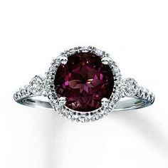 Garnett ring from Kay Jewelers Would love this for an engagement ring, except with a diamond.