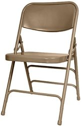 Delightful #Metal Beige #Folding #Chair   800 Lb Capacity   Call For Shipping Specials