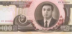 Motivseite: Geldschein-Asien-Nordkorea-원-100-1992
