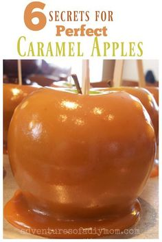 Must-read tips for perfect caramel apples. Learn how to prevent the caramel from sliding off, how to prevent bubbles in the caramel and more! Plus an amazing from-scratch caramel recipe! Tips for Perfect Caramel Apples Heather Martinez feathermarti Carmel Apple Recipe, Gourmet Caramel Apples, Caramel Recipes, Candy Recipes, Apple Recipes, Fall Recipes, Dessert Recipes, Caramel For Apples, Carmal Apples