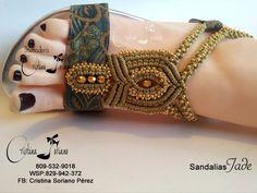 Resultado de imagen para manualidades de sandalias tejidas Jade, Flat Sandals, Flats, Summer Shoes, Bracelets, Jewelry, Fashion, Slippers, Tejidos