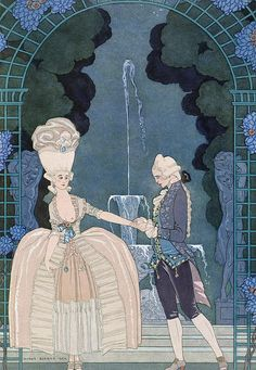 George Barbier - Love under the fountain