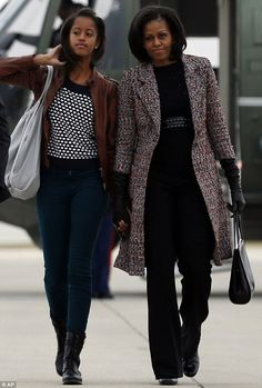 #FirstLady Of The United States  #MichelleObama #FirstDaughter Of The United States  Malia #Obama