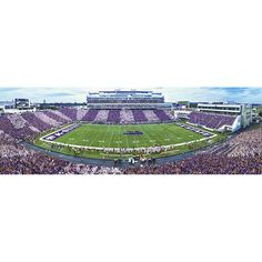 Kansas State University - Panoramic Jigsaw Puzzle by Masterpieces Boise State Broncos, Kansas State University, Kansas State Wildcats, Louisville Cardinals, Bill Snyder, Football Stadiums, College Football, Lsu Tigers, Aerial View