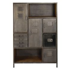 Find the perfect midway point between practical furniture and the industrial trend with the LEWIS mango wood and metal storage cabinet. Bedroom Storage Boxes, Bedroom Storage For Small Rooms, Bedroom Storage Cabinets, Storage Drawers, Industrial Storage Cabinets, Storage Design, Wood And Metal, Lockers, Floor Covering
