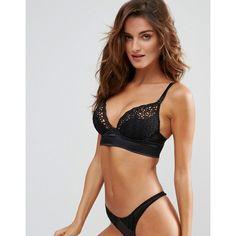 Ann Summers Wall Banger Bra (£24) ❤ liked on Polyvore featuring intimates, bras, black, ann summers lingerie, underwire shelf bra, shelf bra, plunge bra and lingerie bra