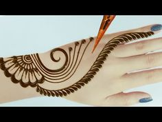 Back hand beautiful mehndi designs - easy mehndi designs for back hands. dear friends today i will share with you a simple mehndi designs for hands hope you . Latest Simple Mehndi Designs, Mehndi Designs For Kids, Mehandi Designs Easy, Back Hand Mehndi Designs, Mehndi Designs For Beginners, Mehndi Design Photos, Mehndi Simple, Wedding Mehndi Designs, Henna Designs Easy