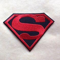 Superman Super Hero Logo hierro en remiendo por PatchForestShop