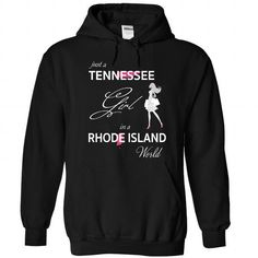 I Love TENNESSEE GIRL IN RHODE ISLAND WORLD T-Shirt