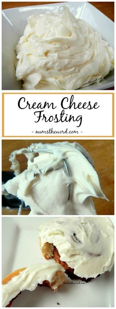 If you love cream cheese frosting, give this one a try! This Cream cheese frosting is perfect for cinnamon rolls! Cinnamon Roll Frosting (or Cinnamon Bun Frosting) is simple, delicious and a favorite of ours! Frosting Recipes, Cake Recipes, Dessert Recipes, Cinnabon Frosting Recipe, Recipes Dinner, Casserole Recipes, Pasta Recipes, Crockpot Recipes, Soup Recipes