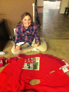 Woman In Transition: DIY Christmas Tree Skirt