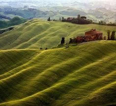 Wonder where this is...  I would love to just run down those hills!