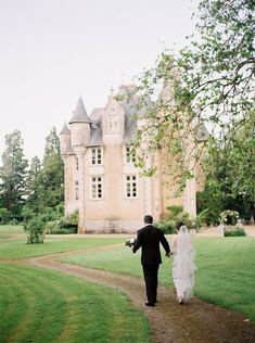 Romantic four-day wedding celebration in a French Chateau via Magnolia Rouge