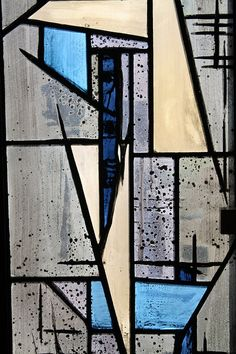 coloured glass - John Piper stained glass in Nuffield College Chapel.
