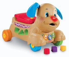 """Fisher-price nos presenta el Puppy perrito camina-conmigo. Este es un interesante correpasillo que proporciona un firme soporte a medida que el bebé aprende a caminar, desarrolla sus habilidades motoras gruesas.Además fomenta el balance y la coordinación. También desarrolla interesante actividades como clasificar bloques y """"alimenta"""" al perrito que fomenta la coordinación ojo-mano. Tiene Música, sonidos y movimiento. Encuéntralo en nuestro fan page de facebook o en www.balbuceos.cl"""