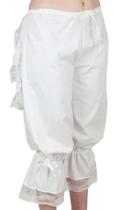 Little Miss Muffet, please show us your tuffet! While our Victorian Bustle Bloomers in white are designed so the modest miss looks a little more pert in her skirt, these novelty knickers are fun to show-off solo.