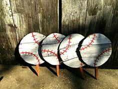 Baseball sign Baseball yard art Personalized by PaePaesPlace