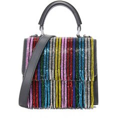les petits joueurs Micro Alex Rainbow Bag (€995) ❤ liked on Polyvore featuring bags, handbags, shoulder bags, rainbow, shoulder handbags, genuine leather shoulder bag, genuine leather purse, multi colored handbags and colorful purses