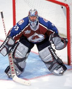 Patrick Roy - Former player & current coach for Colorado Avalanche. Goalie Gear, Hockey Goalie, Hockey Teams, Hockey Players, Kings Hockey, Hockey Girls, Hockey Mom, Patrick Roy, Patrick Kane