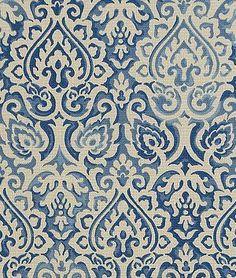 Waverly Parterre Sun N Shade Indigo Fabric - $9.8 | onlinefabricstore.net
