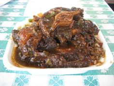 Jamaican Oxtail And Rice | Jamaican Oxtail Stew