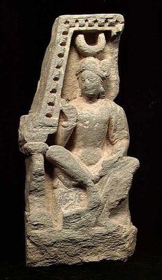 Moon Goddess Hekate / Greco-buddhist art Gandhara Ancient Goddesses, Gods And Goddesses, Diana, Greek Culture, Mother Goddess, Hindu Art, Buddhist Art, Sacred Art, Ancient Artifacts