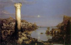 The Course of Empire is a five-part series of paintings created by Thomas Cole in the years 1833-36. It is notable in part for reflecting po...