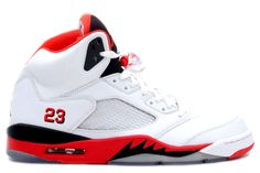 "Air Jordan 5 ""Fire Red""  Price:$104.00 http://www.theblueretros.com/"