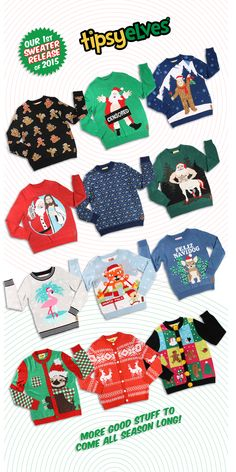 All New Ugly Christmas Sweater Designs for 2015.