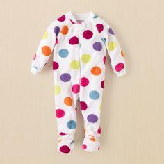 newborn - girls - sleepwear - dotted blanket sleeper | Children\'s Clothing | Kids Clothes | The Children\'s Place