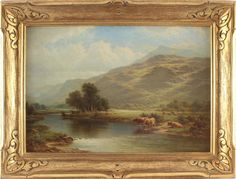 For Sale on - Century river landscape oil painting of a waterfall, Canvas, Oil Paint by William Henry Mander. Offered by Benton Fine Art. Landscape Pictures, Landscape Art, Landscape Paintings, Victorian Art, Waterfall, Fine Art, Antiques, Oil, 19th Century