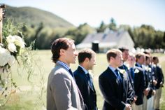 Wedding ceremony in the farm www.RiversideFarm.com