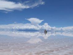 Salar de Uyuni in Bolivia after a rainstorm.