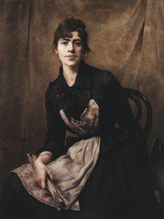 Anna Bilinska Bohdanowicz · Autoritratto con pennelli · 1887 · National Museum · Kraków