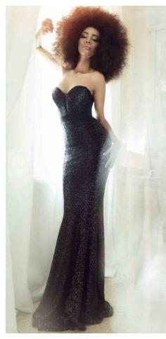 CRISTALLINI #BlackDress #Sequins #EveningDress #RedCarpet