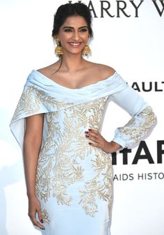 Sonam Kapoor at the amfAR's 23rd Cinema Against AIDS Gala at Cannes Film Festival 2016.