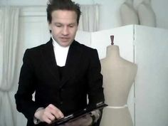 2. How to drape a basic pattern, ladies' back - by bespoke tailor Sten Martin - YouTube