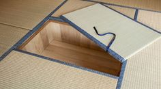 Japanese Tatami living corner with storage under the Tatami (Sunken storage)