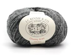 Quality: ChunkyLambswool (Aran Weight)Type: Scoured Aran Weight hand knitting ballFibre: 100% Wool (Lambswool)Weight:50 gramsLength: 95m / 104ydsNeedle Size: 5mm (US 8)Tension: 18 sts to 24rows = 10cm squareAlso availableon the cone.Not sure about the yarn colour on your screen? Why not tryour knitted swatch shad Yarn Colors, Hand Knitting, Swatch, Crushes, Colour, Wool, Type, Medium, Grey